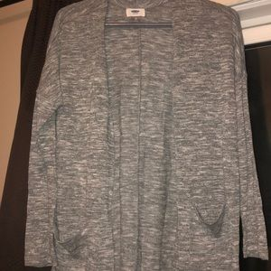 Open knit, old navy sweater, heather grey, size XS